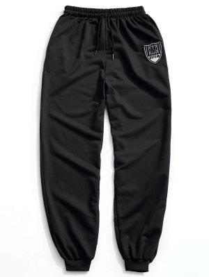 Patch Drawstring Jogger Pants