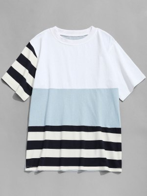 Stripe Color Block T-shirt