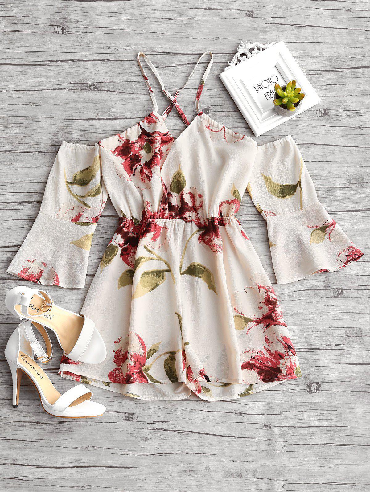 Floral Print Flare Sle