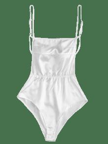 Bodysuit Satin S Blanco Backless Cami 0EwATq04