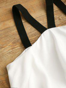 Mini Xl Vestido V Cuello Con Blanco En rWr1xRv