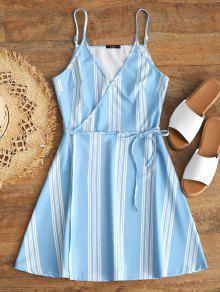 زلة المشارب التفاف اللباس مصغرة - الضوء الأزرق M