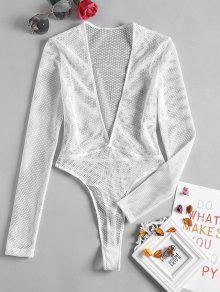 18d23fffe0e4 Plunge Fishnet Long Sleeve Bodysuit; Plunge Fishnet Long Sleeve Bodysuit ...