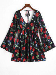 فستان عاري الكتفين - أسود L