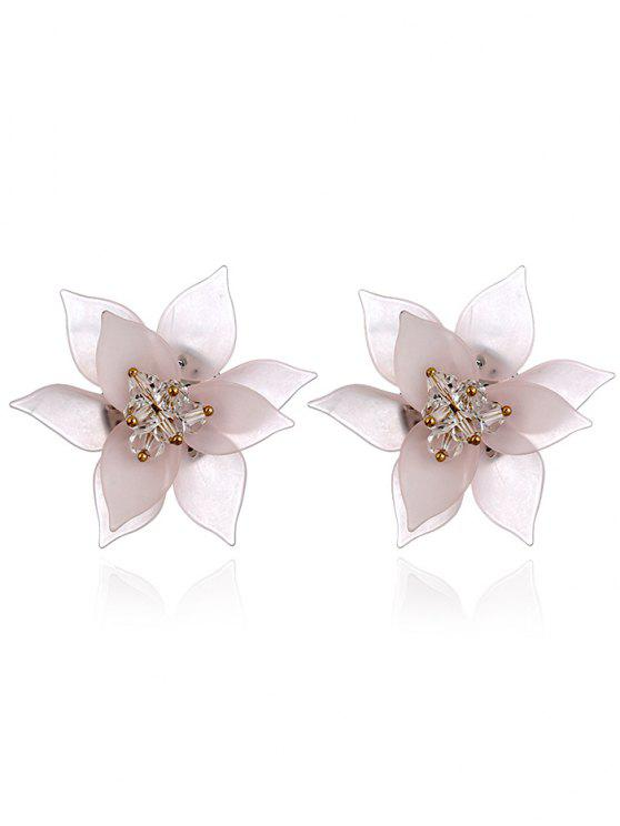 trendy Acrylic Floral Pattern Stud Earrings - PINK