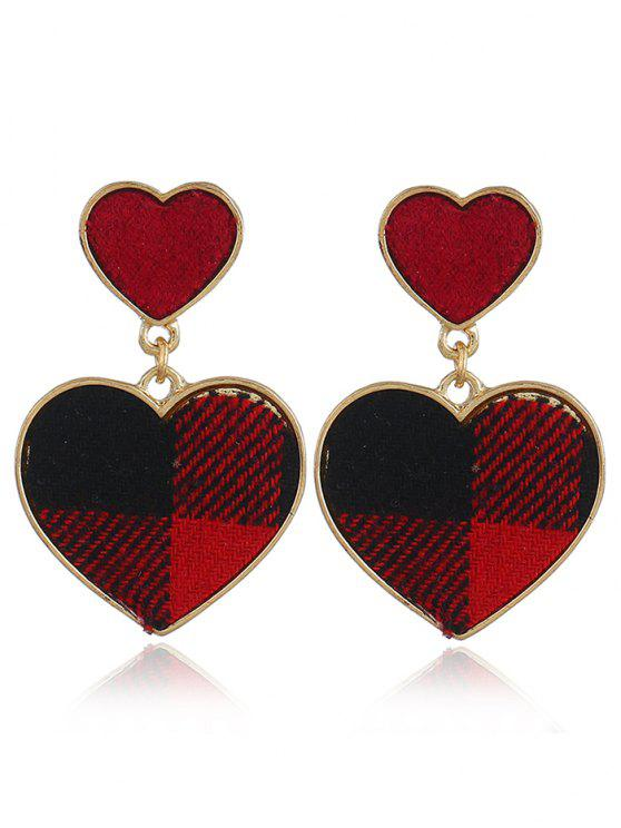 fashion Romantic Sweethearts Drop Earrings - RED