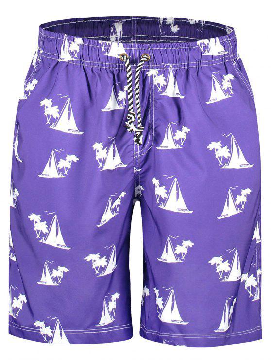 Shorts para placa de impressão para veleiros - Roxo M
