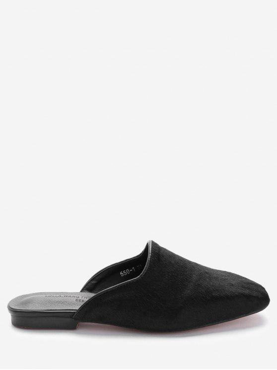 womens Square Toe Loafers - BLACK 39