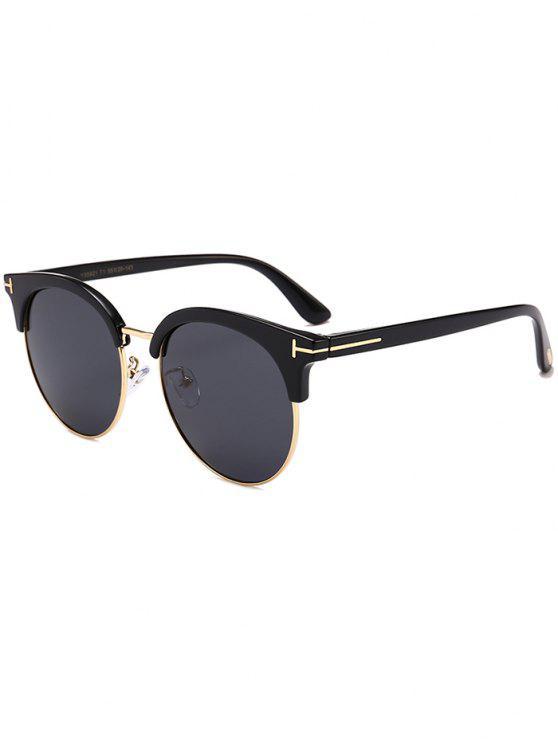 Letter T Decorative Sun Shades Óculos de sol - Preto Duplo