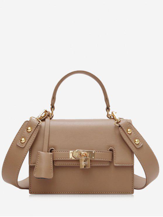Metal Flap Crossbody Bag With Handle