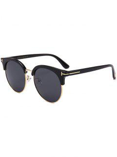 Letter T Decorative Sun Shades Sunglasses - Double Black