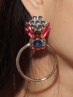 Pendientes Colgantes Adornados Con Diamantes De Imitación De Colores De San Valentín - Dorado