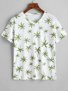 Camiseta Con Cuello Redondo Y Estampado De Coco - Blanco