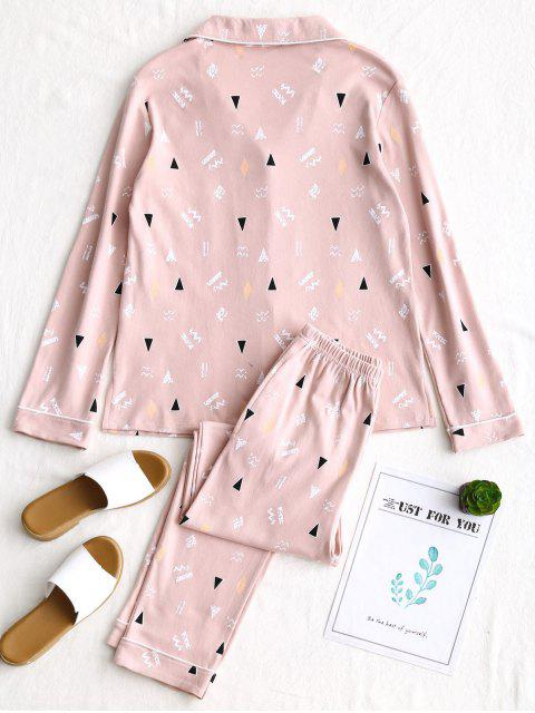 Stenciling Cotton Pyjamas Set - Rosado L Mobile