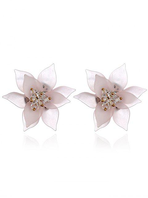 trendy Acrylic Floral Pattern Stud Earrings -   Mobile