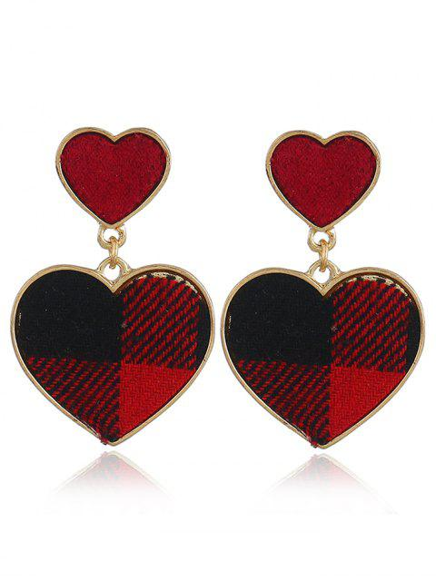 fashion Romantic Sweethearts Drop Earrings - RED  Mobile