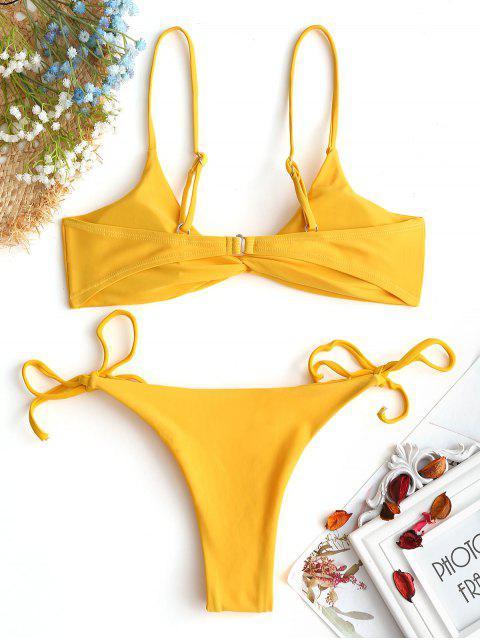 Conjunto de bikini de cadena delantera Cami Twist - Jengibre S Mobile