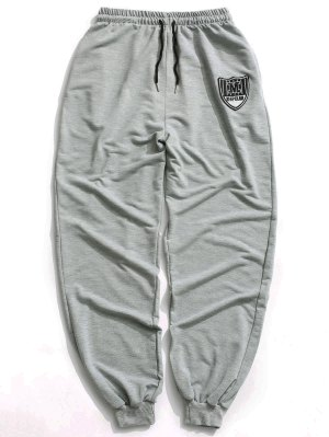 Patch Drawstring Jogger Pants