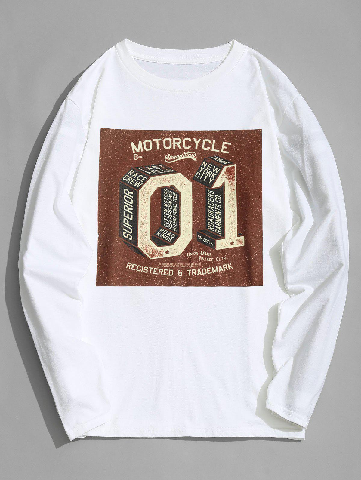 Motorcycle Graphic Long Sleeve T-shirt 255229401