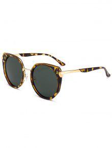 نظارة شمسية بإطار معدني - التمويه الخضراء الداكنة
