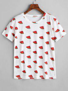 Con Sand Cuello Estampado Camiseta Redondo De De qxtw0Fag