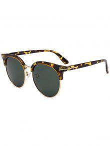 T نظارة شمسية مزينة بحرف - التمويه الخضراء الداكنة