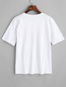 Lindo 243;n Algod Top Estampado Blanco De pqBnSF8