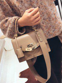 Metal Flap Crossbody Bag With Handle