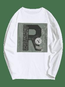 Completa 225;fica Manga De Blanco 3xl Gr Camiseta xpnRqZz