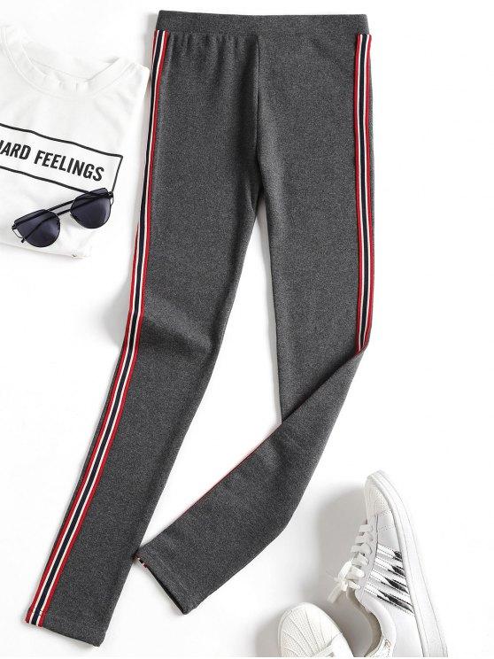 Pantalon d'entraînement à rayures latérales - gris foncé TAILLE MOYENNE