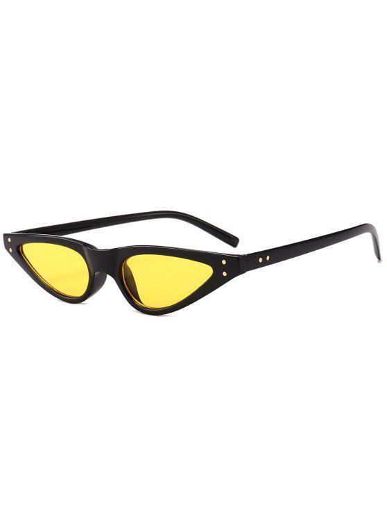 Anti-fadiga Full Frame Sun Shades Óculos de sol - Amarelo