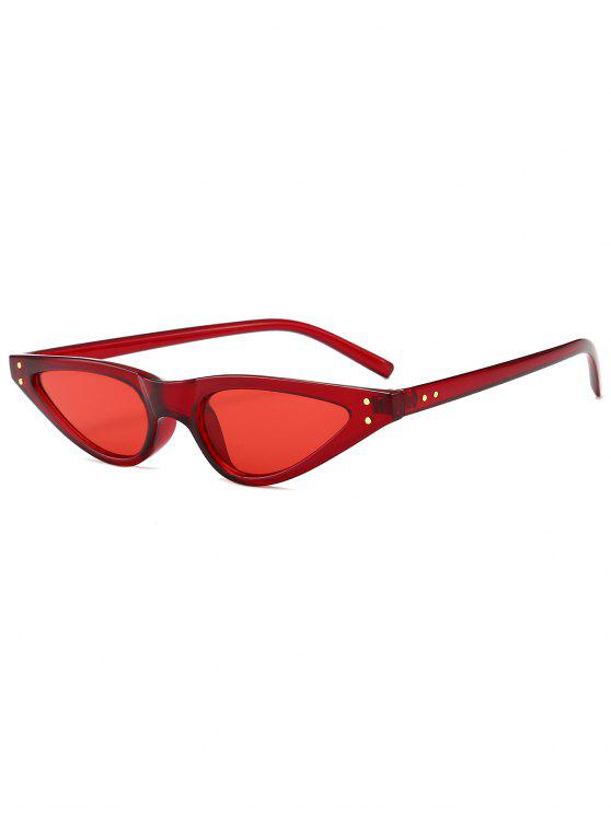 outfit Anti-fatigue Full Frame Sun Shades Sunglasses - RED