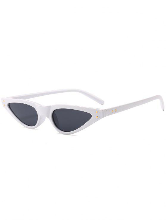 latest Anti-fatigue Full Frame Sun Shades Sunglasses - WHITE FRAME+GREY LENS
