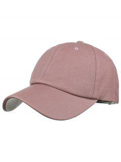 Line Embroidery Magic Sticker Baseball Cap - Pink