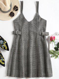 Houndstooth Mini Flared Cami Dress - Houndstooth M