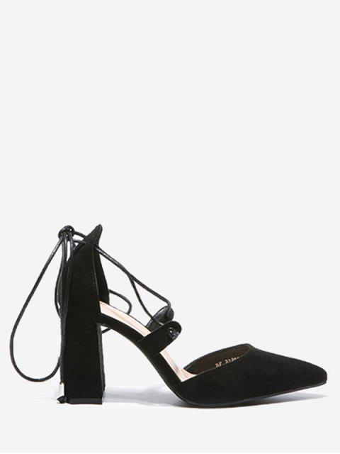 f352e247c العربية Conful | أسود حذاء بأربطة ذو كعب عريض 2019 [54% OFF]