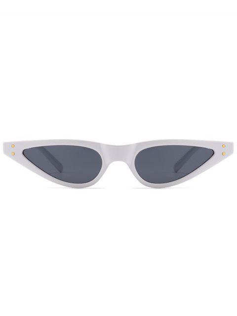 latest Anti-fatigue Full Frame Sun Shades Sunglasses - WHITE FRAME+GREY LENS  Mobile