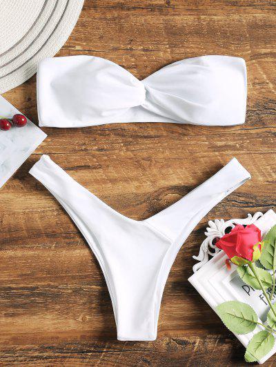 Image of Bandeau Twist Front Thong Bikini