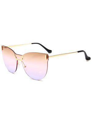 Anti-fatigue Color Gradient Lens One Pieces Sunglasses - Light Yellow