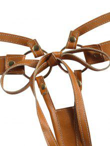 2310fcb75 25% OFF  2019 Strappy Faux Leather Thong In BROWN