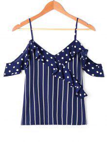 Rschen Polka Dot Striped Slip Bluse