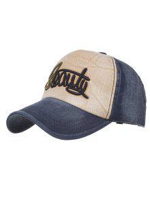 بسيطة نمط الجمال التطريز قبعة سناباك - Cadetblue رقم