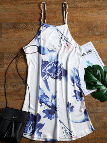 Xl Estampado Floral Blanco Cami Mini Shift Vestido De Hn0q7w