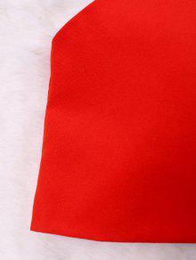 L Sin Camiseta o Atr Dise De Lazo Mangas Fruncido Con Rojo 225;s H4cZ6g