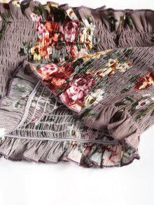 De Tubo 237;z Floral Ra Smocked De Loto Color De Top dFgWycd