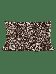 Patr Leopard Mangas Sin Estampado 243;n Smocked Leopardo Top De zwZIEn
