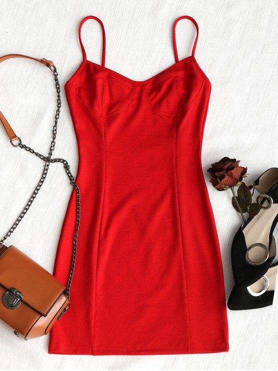 Robe Moulante de Glissade en Club - Rouge L