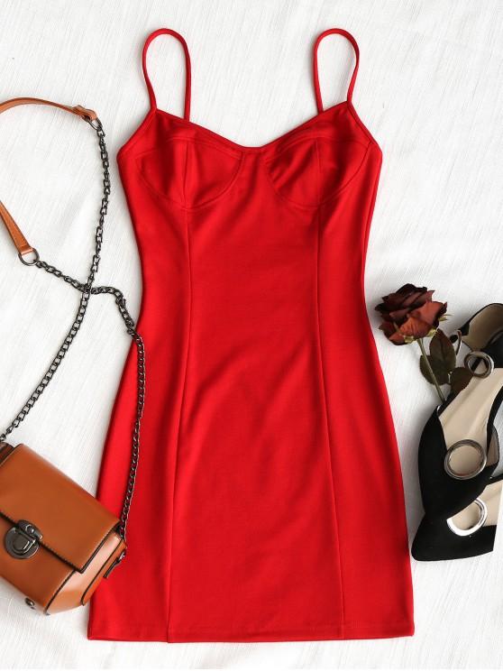 Robe Moulante de Glissade en Club - Rouge M