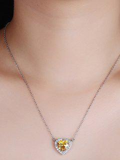 Collar De Plata De Ley Del Corazón Del Día De San Valentín - Plata
