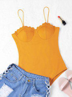 Scalloped Slip Bodysuit - Ginger L